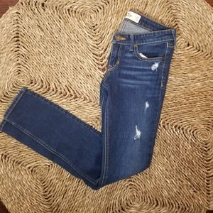 Hollister Distressed Ripped Skinny Jeans Size 1